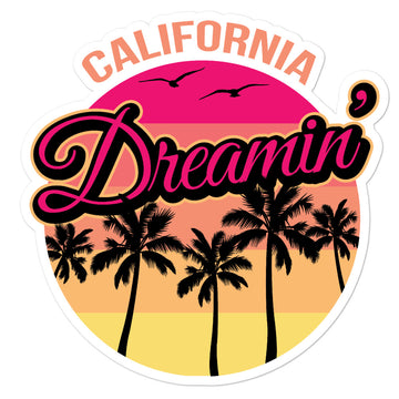 California Dreamin Sunset - Sticker