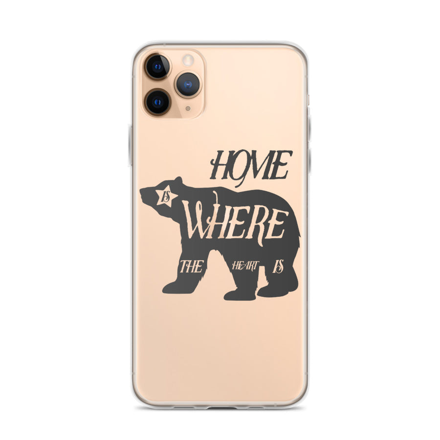 Home Is Where The Heart Is Bear - iPhone Case
