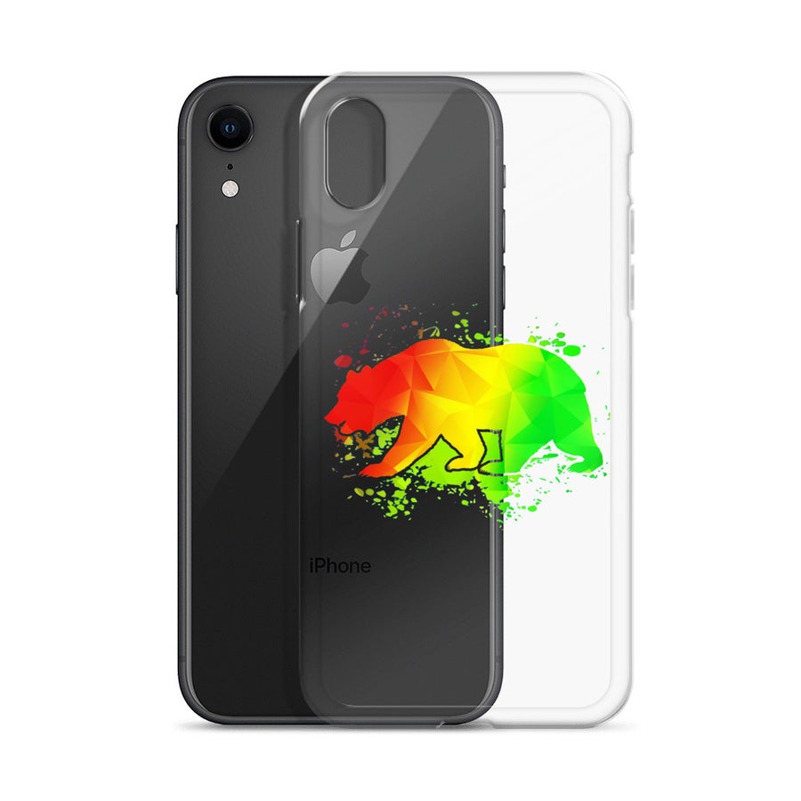 California Rasta Bear - iPhone Case