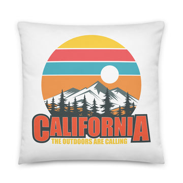 California The Outdoors Are Calling - Throw Pillow