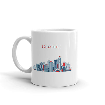 Los Angeles In Red White Blue - Mug