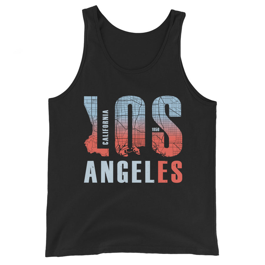 Los Angeles Map Style - Men's Tank Top
