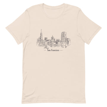 Hand Drawn San Francisco - Women's T-Shirt