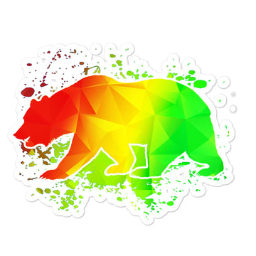 California Rasta Bear - Stickers