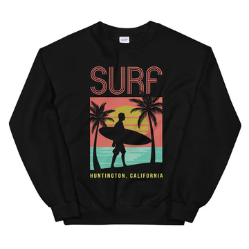Surf Huntington - Men's Crewneck Sweatshirt