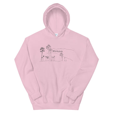 Hand Drawn Hollywood Sign - Women's Hoodies