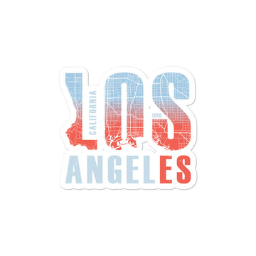 Los Angeles Map Style - Stickers
