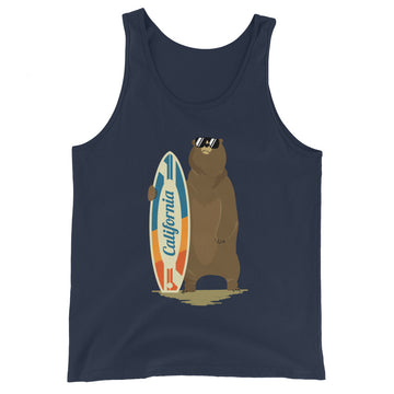 California Surfer Bear - Men's Tank Top