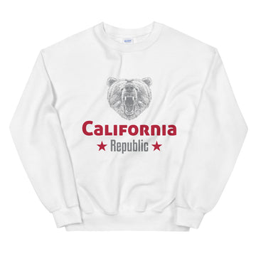 California Grizzly Bear - Men's Crewneck Sweatshirt