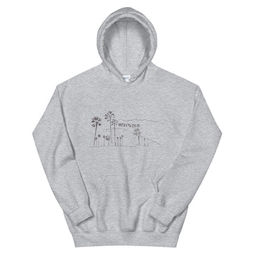 Hand Drawn Hollywood Sign - Men's Hoodie