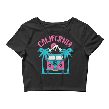California Adventure Van & Palms - Women's Crop Top