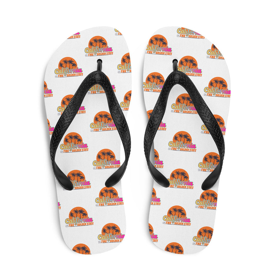 California The Golden State - Flip Flops