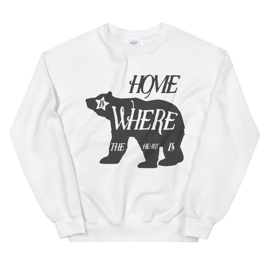 Home Is Where The Heart Is Bear - Women's Crewneck Sweatshirt