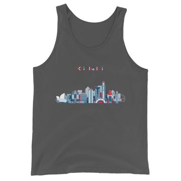 Los Angeles In Red White Blue - Men's Tank Top