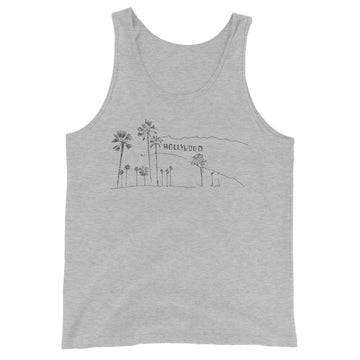 Hand Drawn Hollywood Sign - Men's Tank Top
