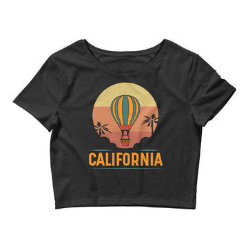 Vintage California Hot Air Balloon - Women's Crop Top