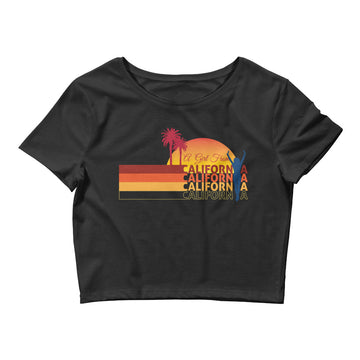 Girl From California - Women's Crop Top
