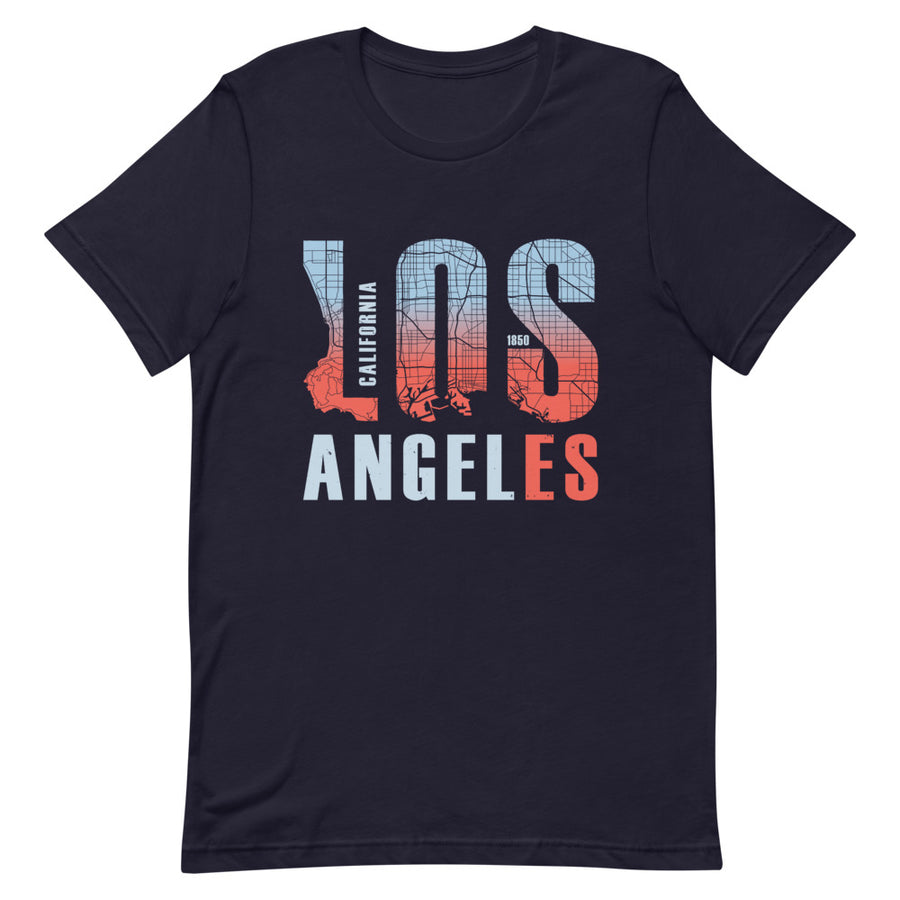 Los Angeles Map Style - Men's T-Shirt