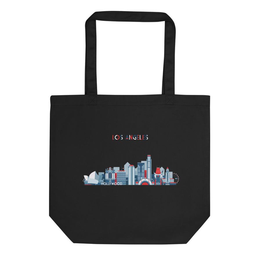 Los Angeles In Red White Blue - Tote Bag