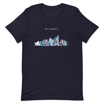 Los Angeles In Red White Blue - Men's T-Shirt