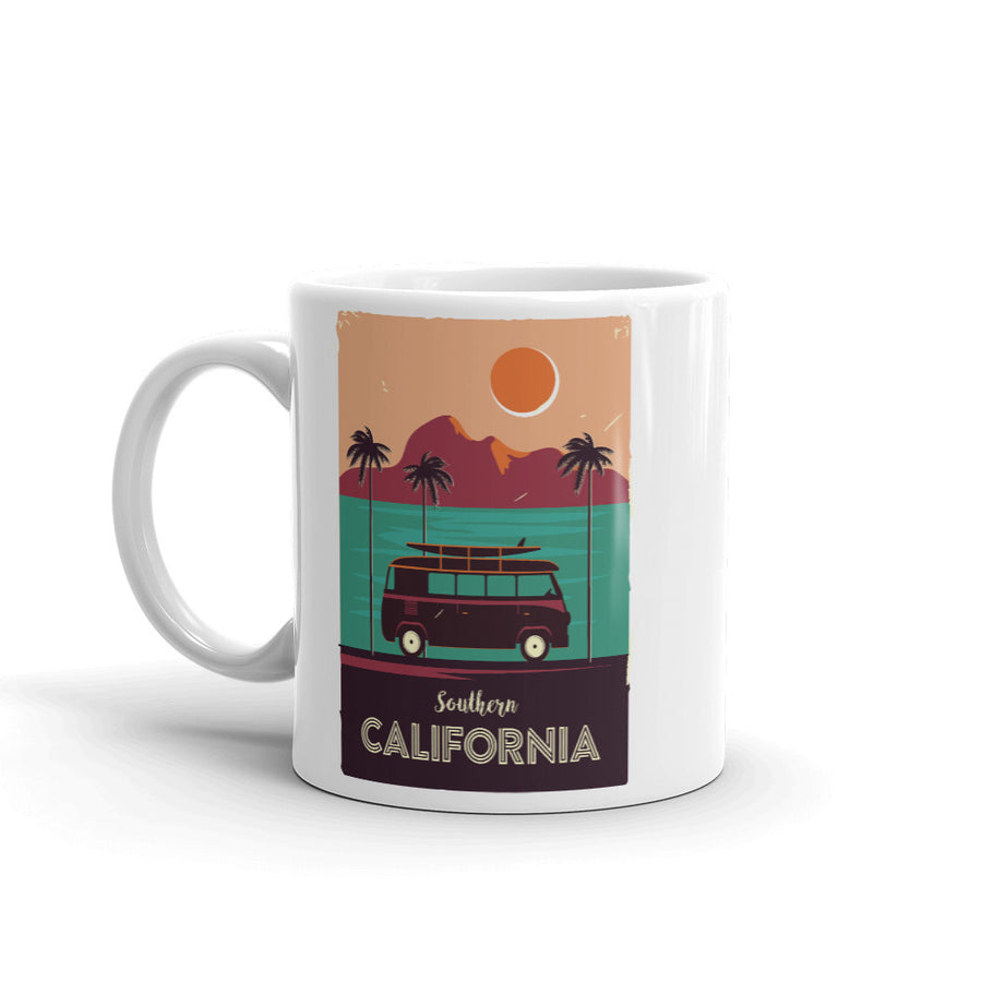 Southern California Beach Van - Mug