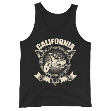 California Biker Motorcycle - Men's Tank Top
