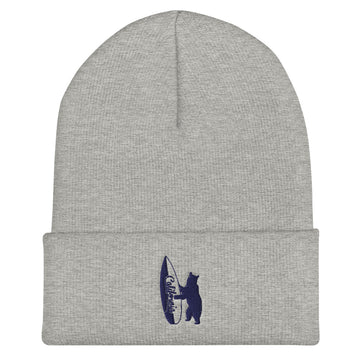 Bear With California Surfboard - Beanie