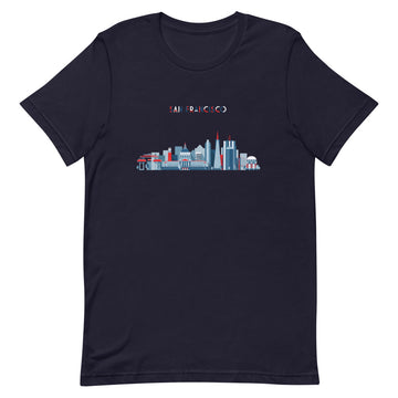 San Francisco In Red White Blue - Men's T-Shirt
