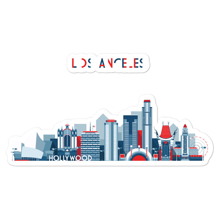 Los Angeles In Red White Blue - Stickers