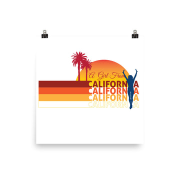 Girl From California - Poster