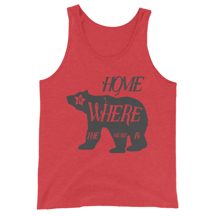 Home Is Where The Heart Is Bear - Men's Tank Top