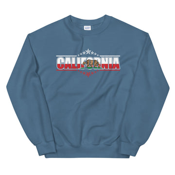 Patriotic Californian - Men's Crewneck Sweatshirt