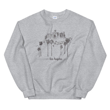 Hand Drawn Los Angeles - Men's Crewneck Sweatshirt