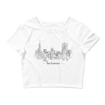 Hand Drawn San Francisco - Women's Crop Top