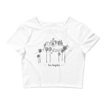 Hand Drawn Los Angeles - Women's Crop Top