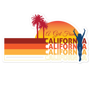 Girl From California - Stickers