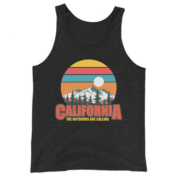 California The Outdoors Are Calling - Men's Tank Top