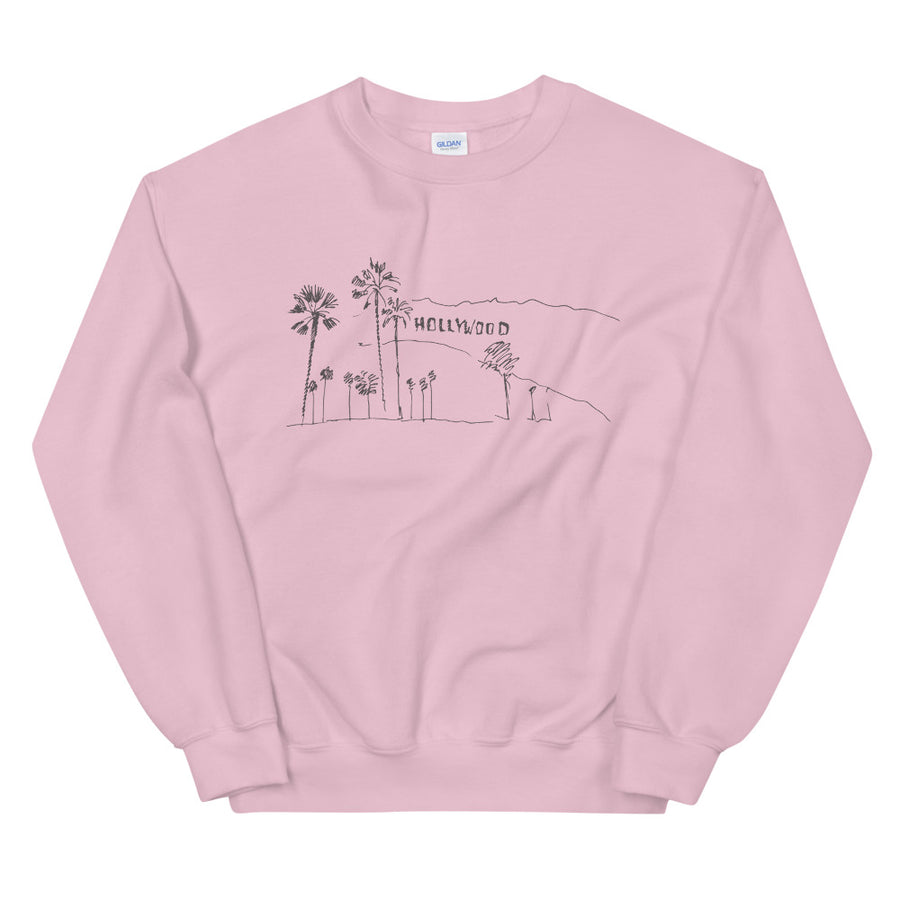 Hand Drawn Hollywood Sign - Women's Crewneck Sweatshirt