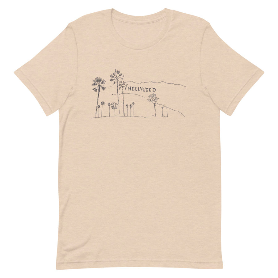 Hand Drawn Hollywood Sign - Women's T-Shirt