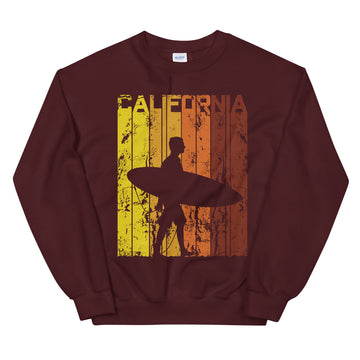 California Surfer - Men's Crewneck Sweatshirt