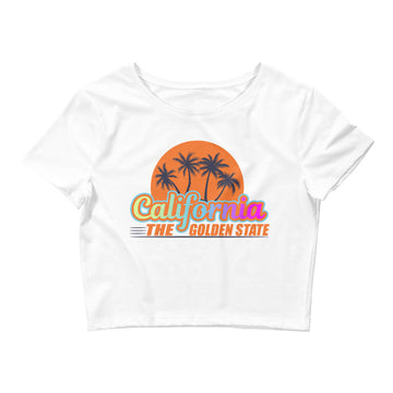 California The Golden State - Women's Crop Top
