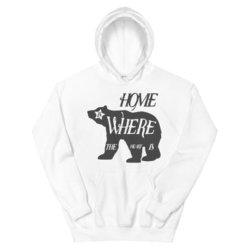Home Is Where The Heart Is Bear - Men's Hoodie