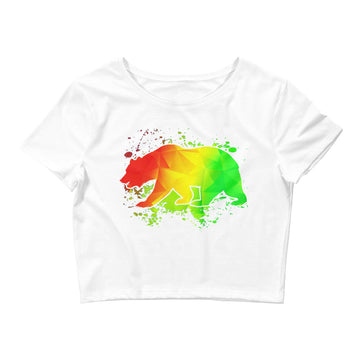 California Rasta Bear - Women's Crop Top