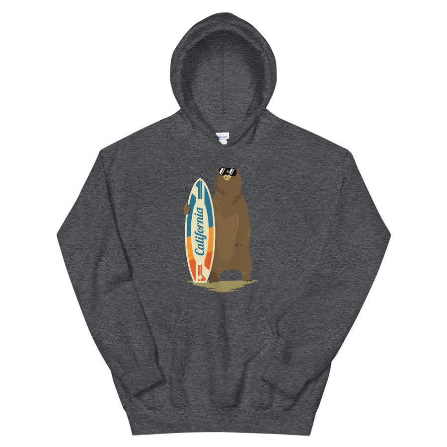 California Surfer Bear - Men's Hoodie