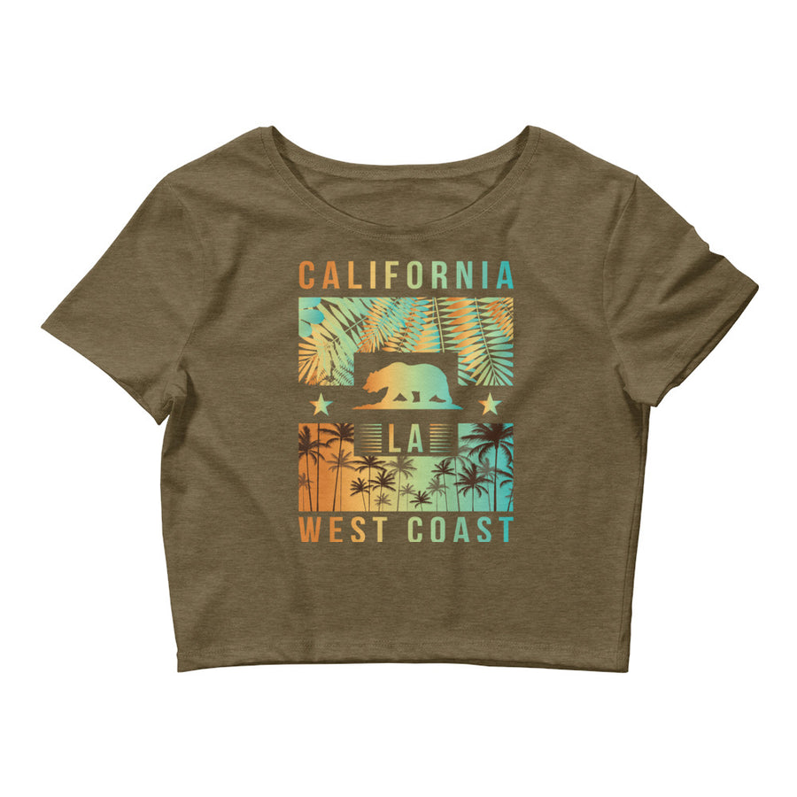 West Coast California - Women's Crop Top