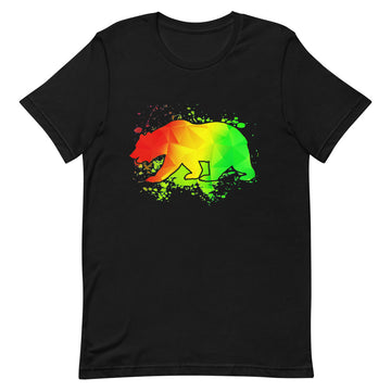 California Rasta Bear - Men's T-Shirt