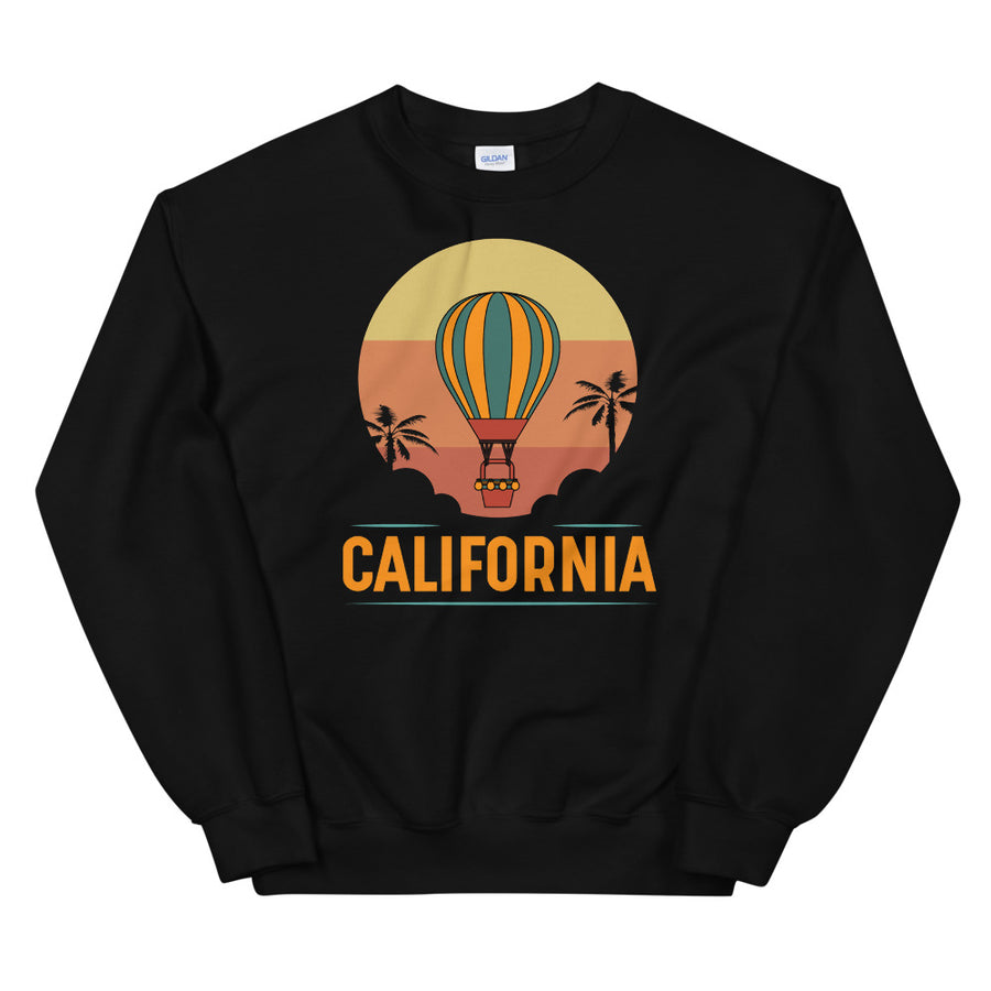 Vintage California Hot Air Balloon - Women's Crewneck Sweatshirt