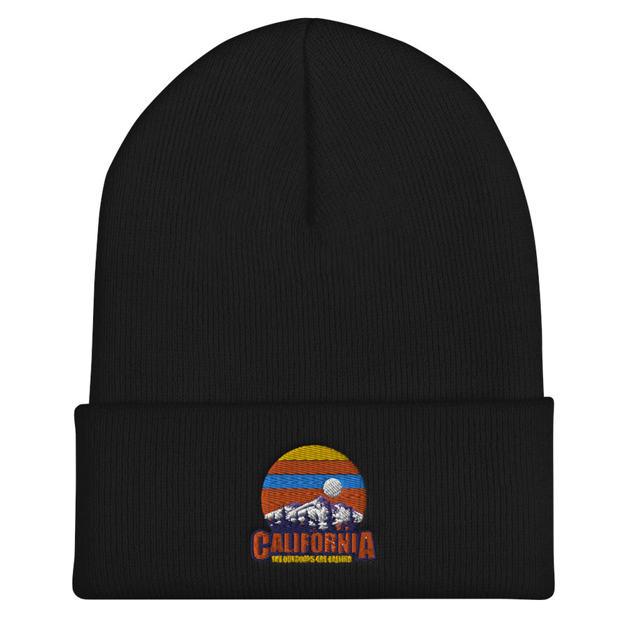 California The Outdoors Are Calling - Beanie