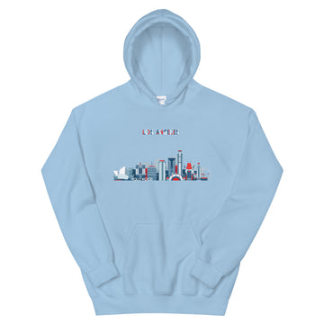 Los Angeles In Red White Blue - Women's Hoodie