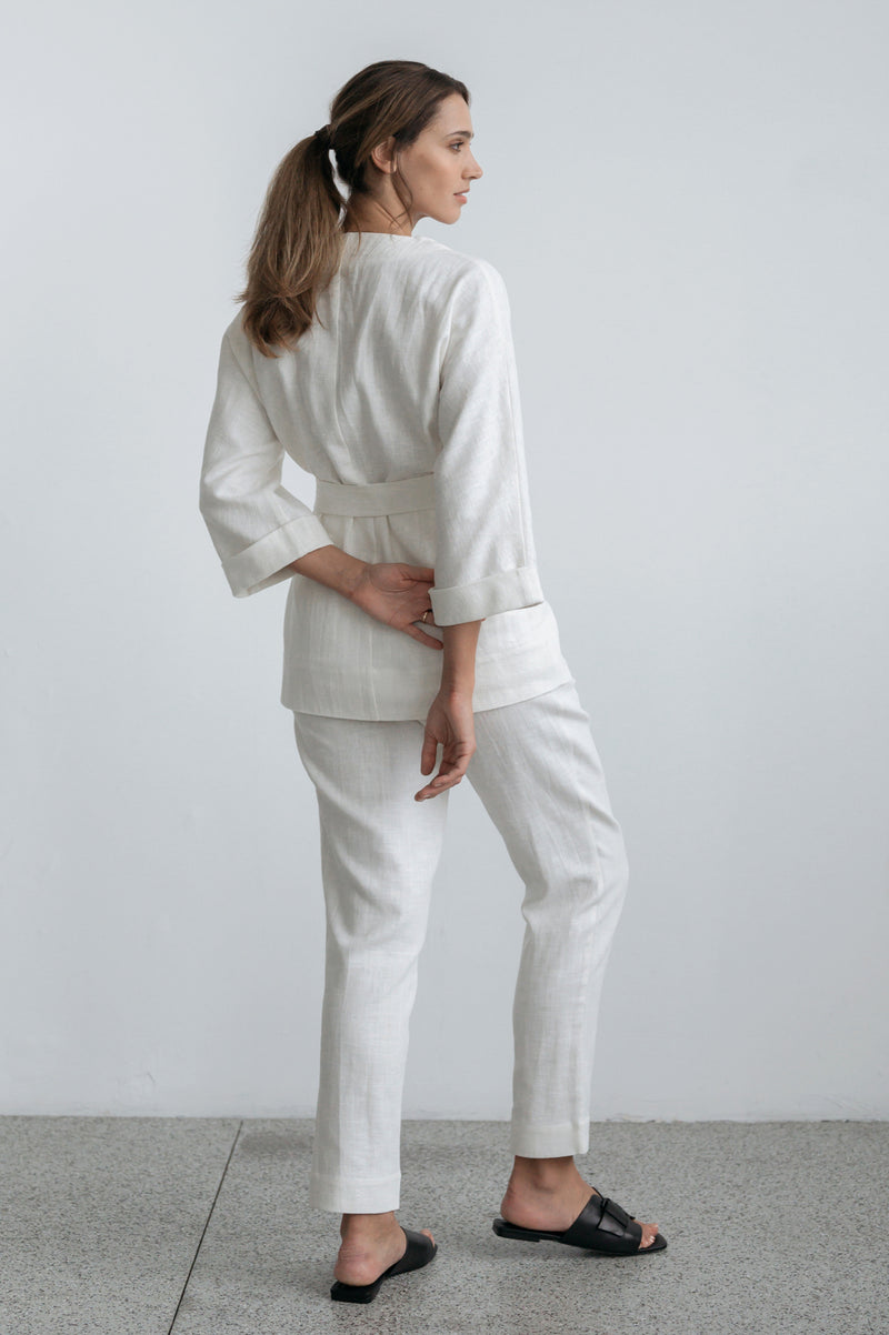 Jada Wrap Jacket- Ivory